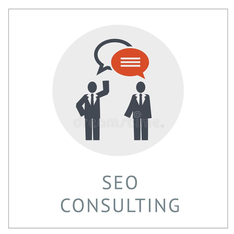 SEO Consulting Simpel Логотип Icon Vector Iluстрация бесплатная иллюстрация