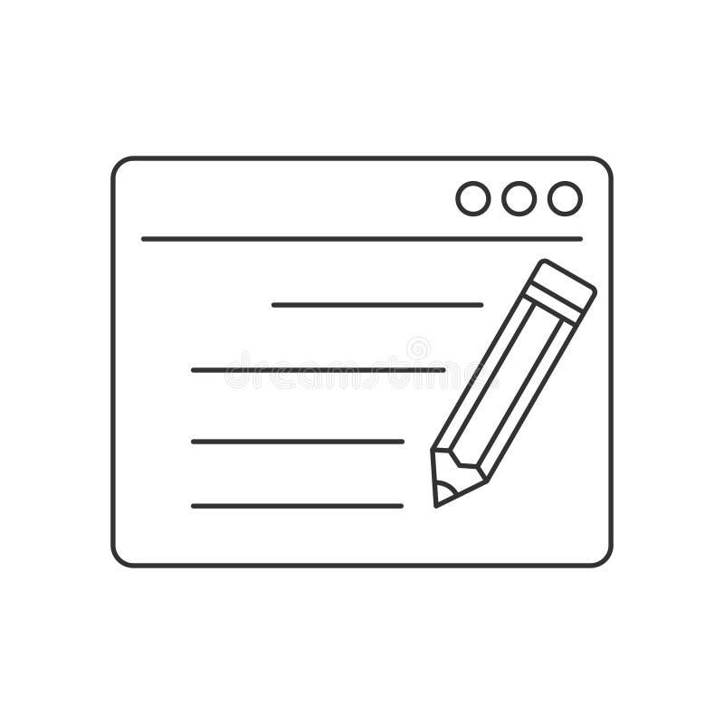 Seo copywriting line icon stock illustration