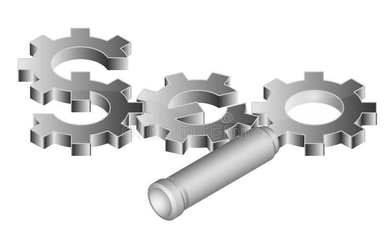 SEO - de Optimalisering van de Motor van het Onderzoek vector illustratie