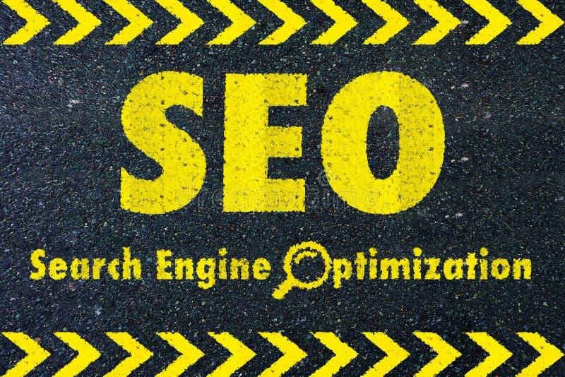 SEO - de Optimalisering van de Motor van het Onderzoek royalty-vrije illustratie