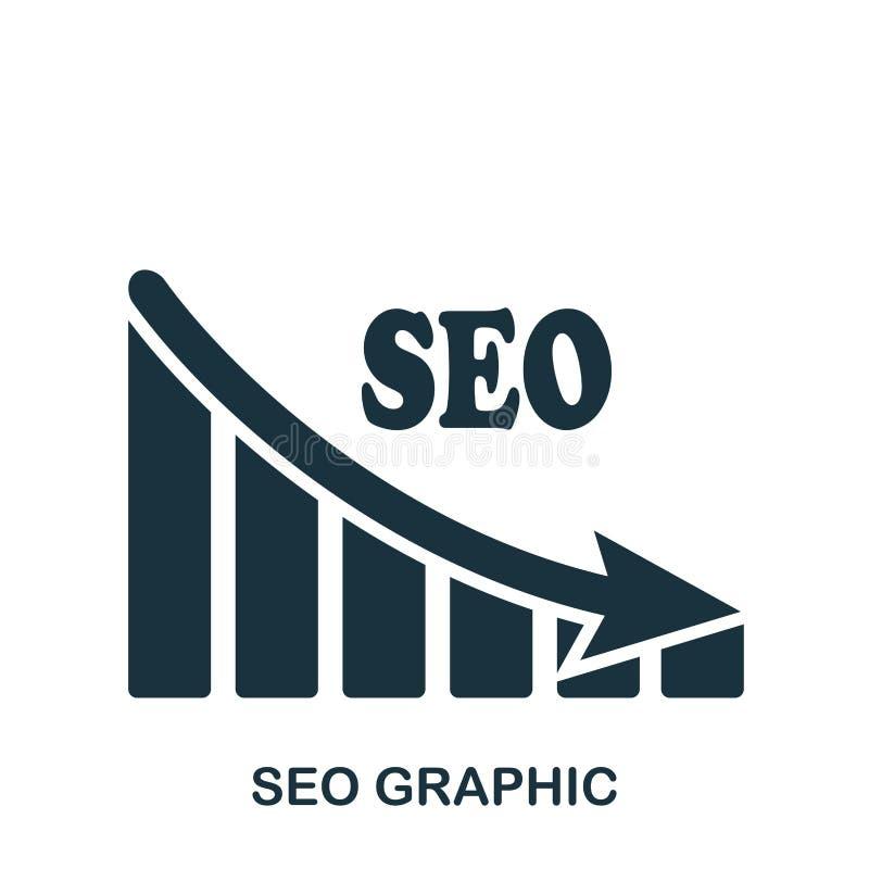 Seo Decrease Graphic symbol Mobil app, printing, webbplatssymbol Enkel beståndsdelallsång Monokromma Seo Decrease Graphic stock illustrationer