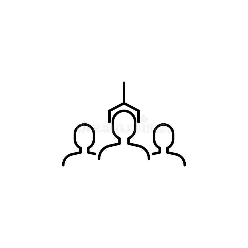 seo di affari, icona della linea di trattamento di selezione Lavoro di squadra all'idea I segni ed i simboli possono essere usati illustrazione di stock