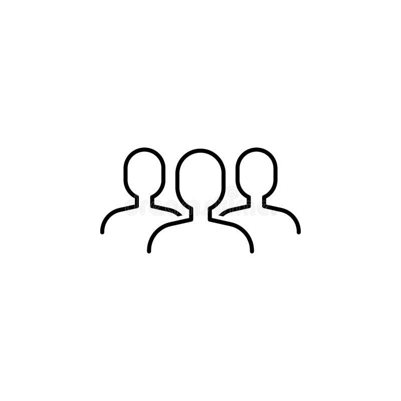 seo di affari, linea icona del gruppo Lavoro di squadra all'idea I segni ed i simboli possono essere usati per il web, logo, app  illustrazione di stock