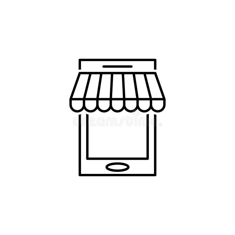 seo di affari, linea mobile icona Lavoro di squadra all'idea I segni ed i simboli possono essere usati per il web, logo, app mobi illustrazione di stock