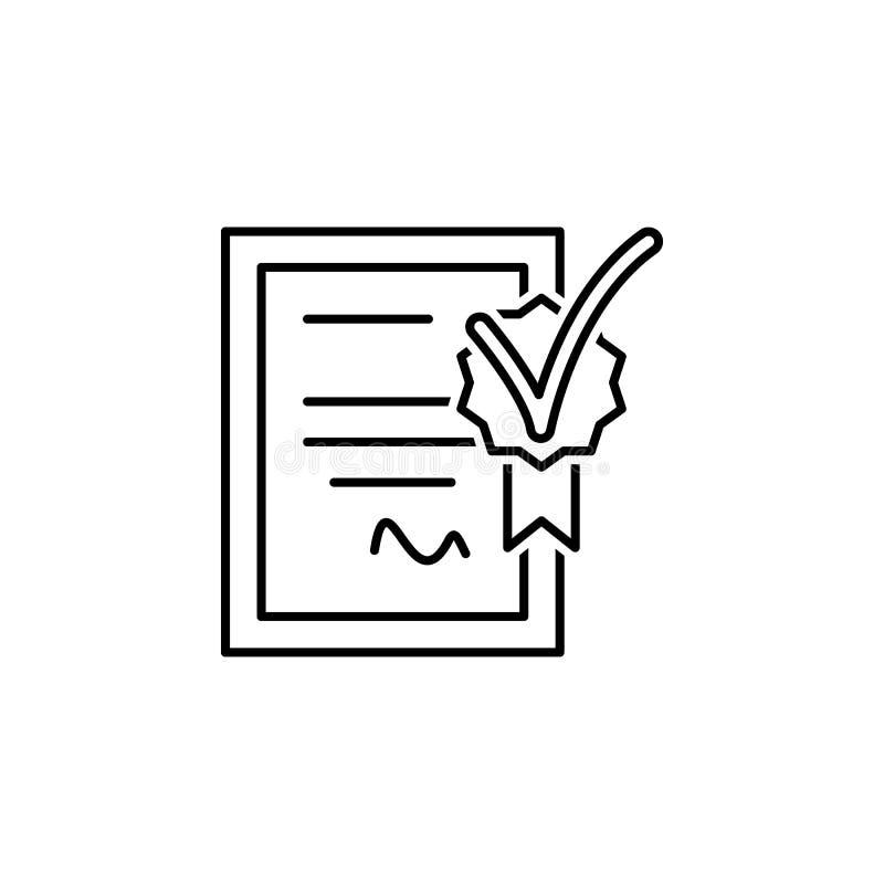 seo do negócio, linha ícone do certificado Trabalhos de equipe na ideia Os sinais e os s?mbolos podem ser usados para a Web, logo ilustração stock