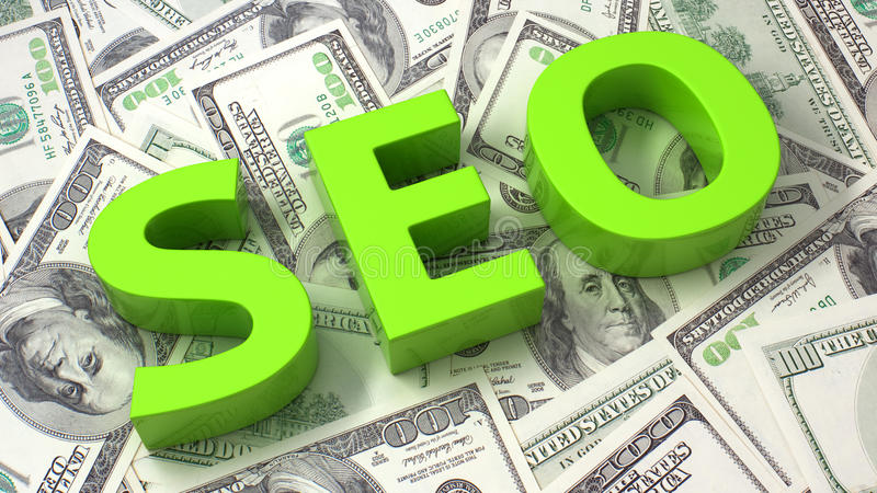Download SEO On The Dollar Background Stock Illustration - Image: 34535422