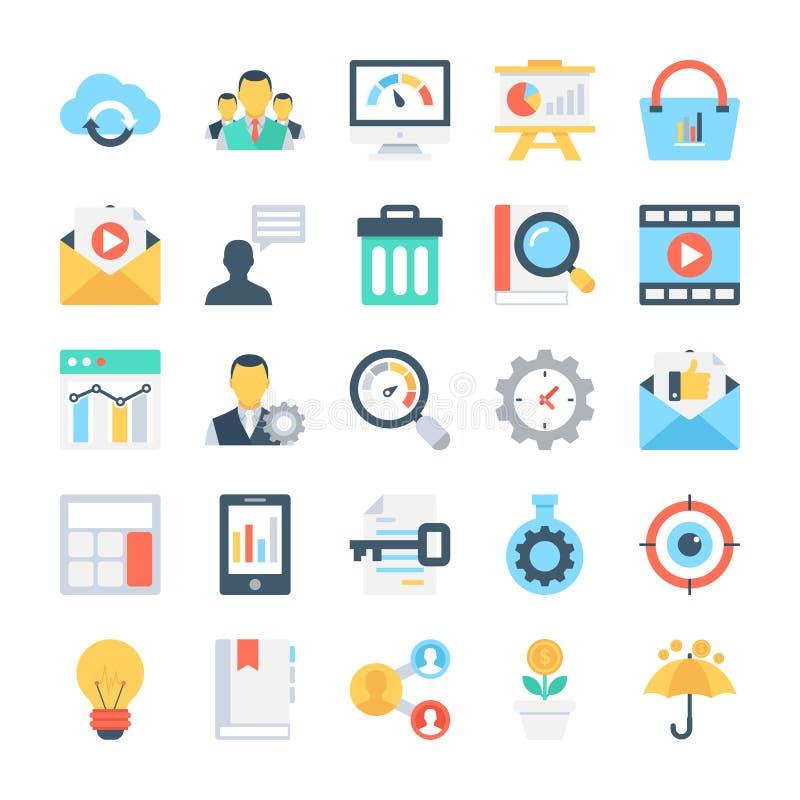 SEO e iconos 8 del vector del márketing libre illustration