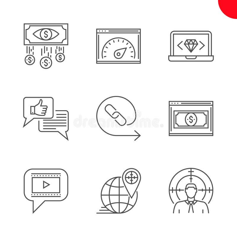 Seo e opimization da Web ilustração stock