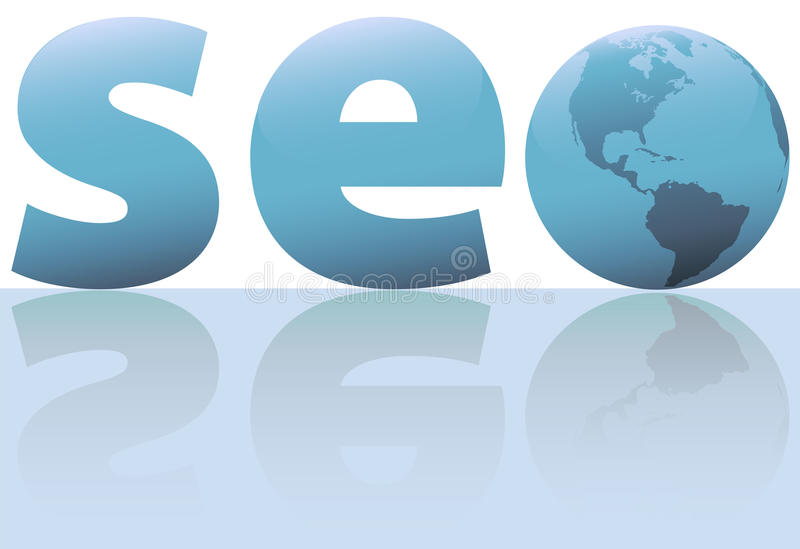 SEO earth search engine optimization internet royalty free illustration