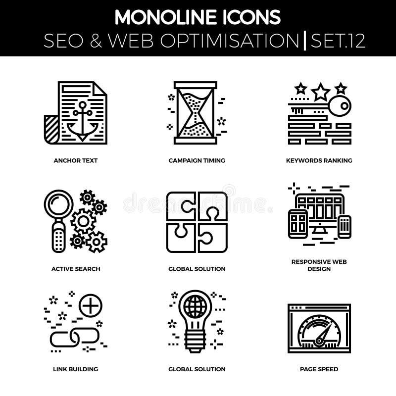 Seo en Webopimization stock illustratie