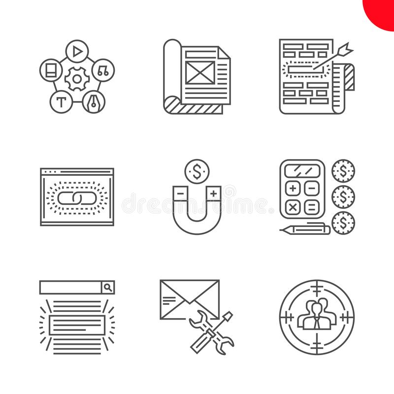 Seo en Webopimization vector illustratie