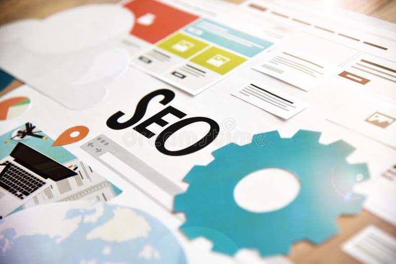 SEO et développement de Web image libre de droits