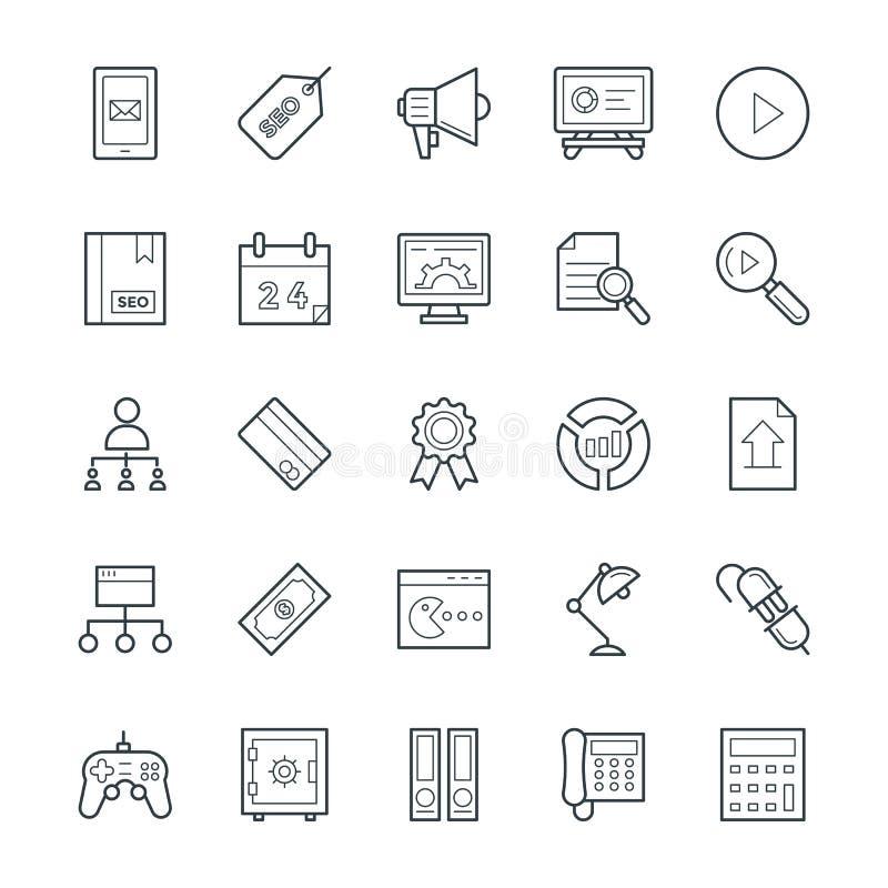 SEO et Internet lançant les icônes sur le marché fraîches 4 de vecteur illustration de vecteur