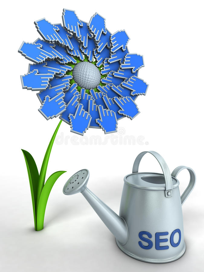 Download SEO flower stock illustration. Image of cultivate, keyword - 18302953