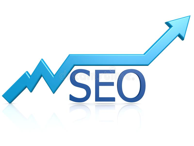 SEO-grafiek stock illustratie