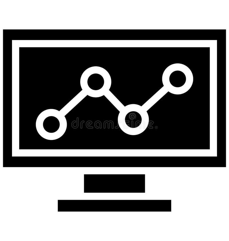 Seo Graph Isolated Vetora Icon isso pode facilmente ser alterado ou editado ilustração royalty free