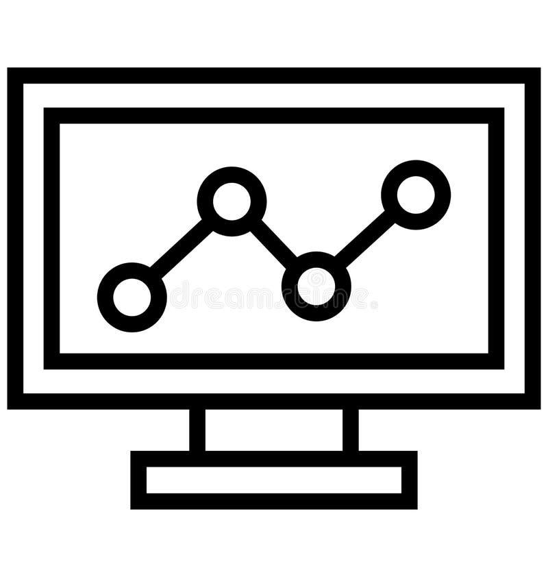 Seo Graph Isolated Vetora Icon isso pode facilmente ser alterado ou editado ilustração do vetor