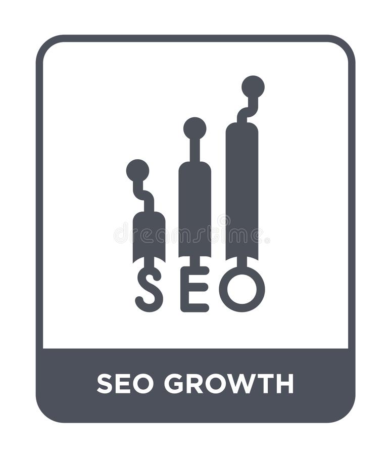 seo growth icon in trendy design style. seo growth icon isolated on white background. seo growth vector icon simple and modern royalty free illustration