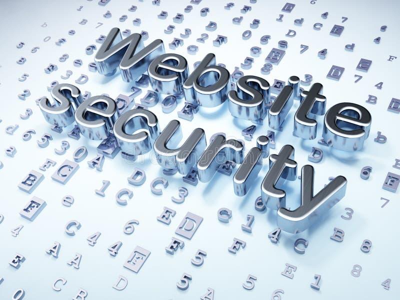 SEO-het concept van het Webontwerp: Zilveren Websiteveiligheid royalty-vrije illustratie