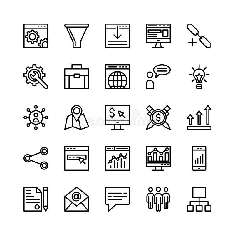SEO 2 i Marketingowe Wektorowe ikony ilustracja wektor
