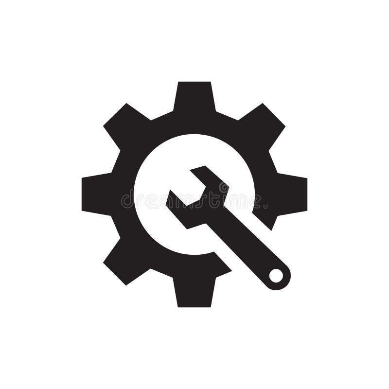 SEO - icono negro en el ejemplo blanco del vector del fondo para la página web, aplicación móvil, presentación, infographic Engra libre illustration