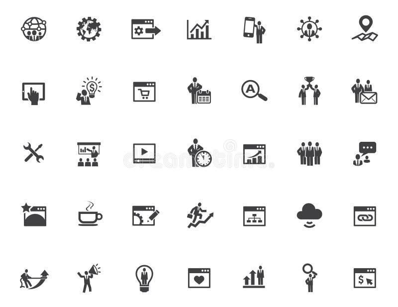 35 SEO Icons ilustração royalty free