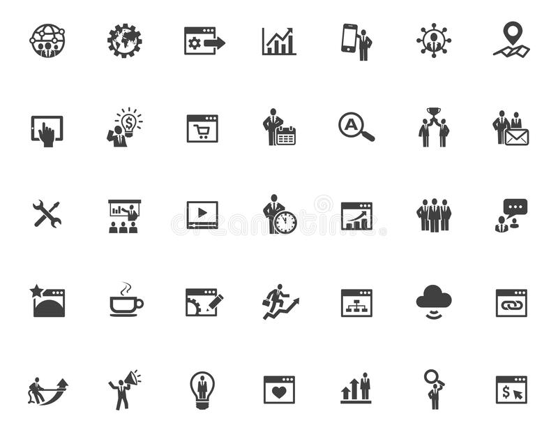 35 SEO Icons. Is available for your designs royalty free illustration