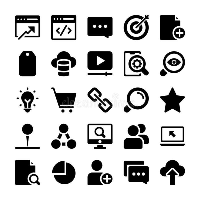 Seo Icons Pack illustrazione di stock
