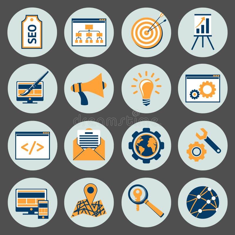 SEO Icons Set royalty free illustration