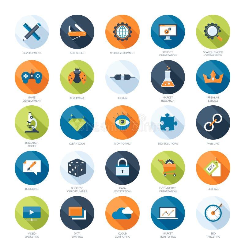 SEO icons stock illustration