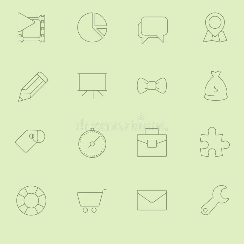 SEO Icons Vol fino 2 ilustración del vector