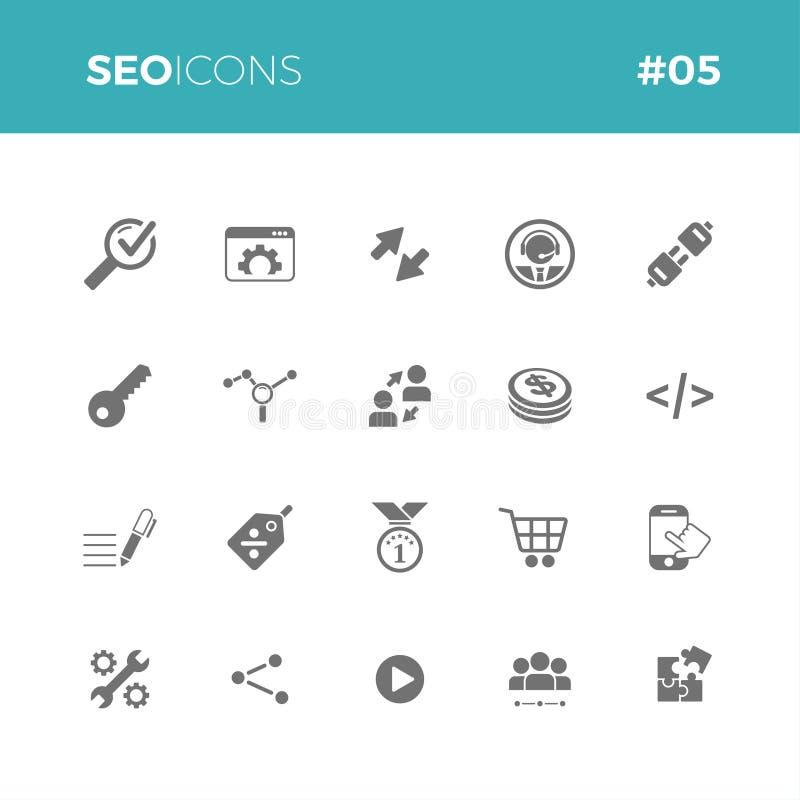 Seo-Ikonen stellten #05 ein lizenzfreie abbildung