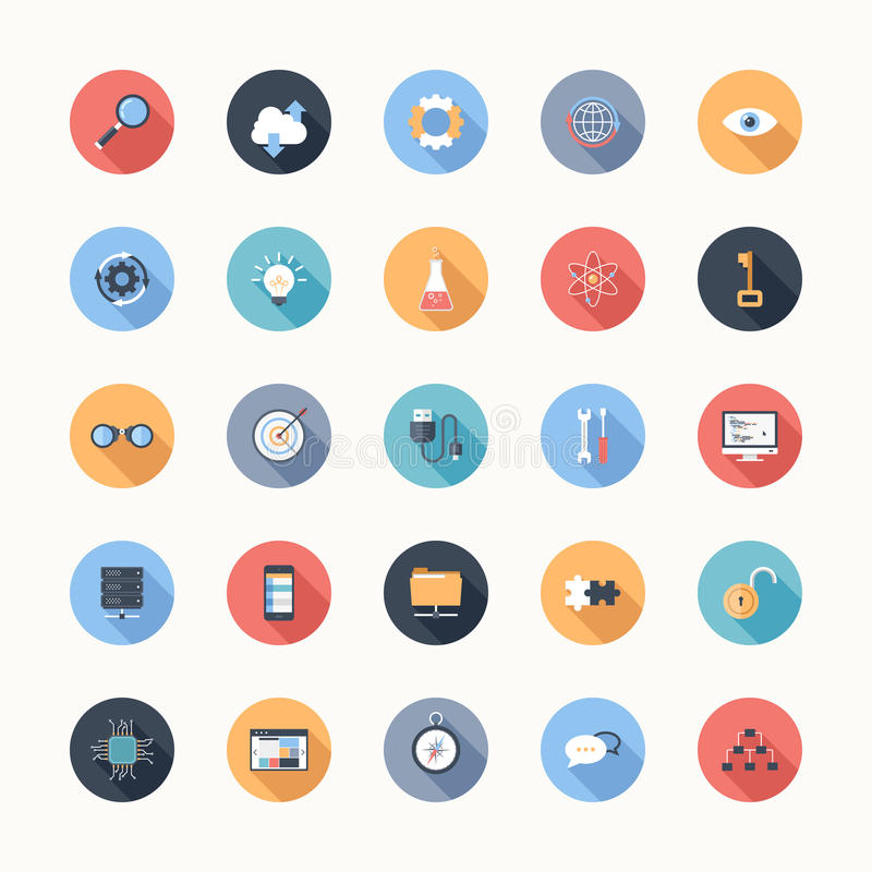 Seo ikony ilustracji