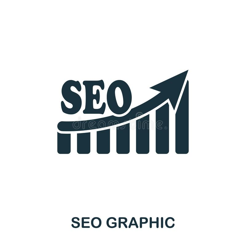 Seo Increase Graphic icon. Mobile apps, printing and more usage. Simple element sing. Monochrome Seo Increase Graphic vector illustration