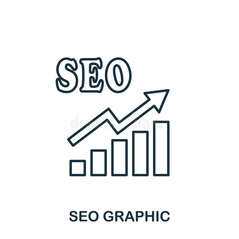 Seo Increase Graphic icon. Mobile apps, printing and more usage. Simple element sing. Monochrome Seo Increase Graphic icon illustr. Ation royalty free illustration