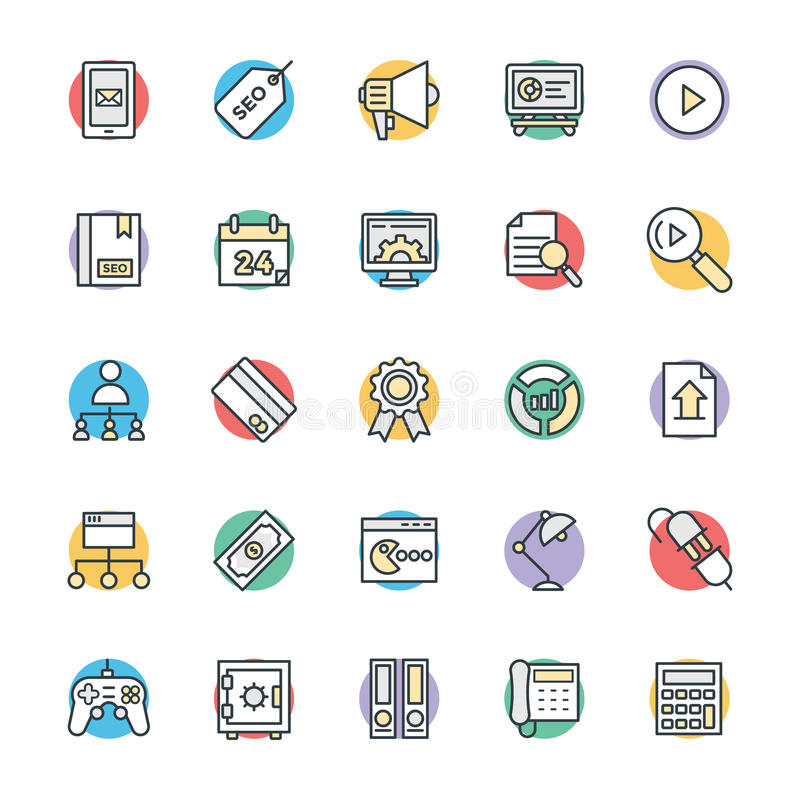 SEO and Internet Marketing Cool Vector Icons 4. Here is an awesome set of SEO and Internet Marketing Vector Icons that is useful for the marketing and promotion stock illustration