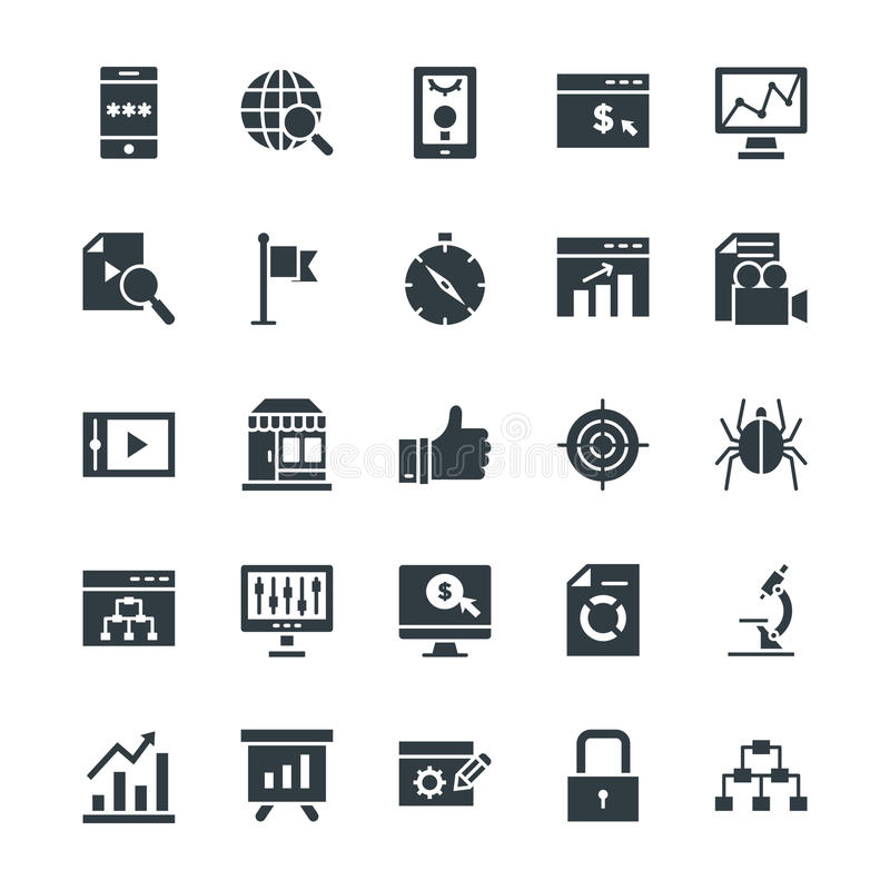 SEO and Internet Marketing Cool Vector Icons 2. Here is an awesome set of SEO and Internet Marketing Vector Icons that is useful for the marketing and promotion royalty free illustration