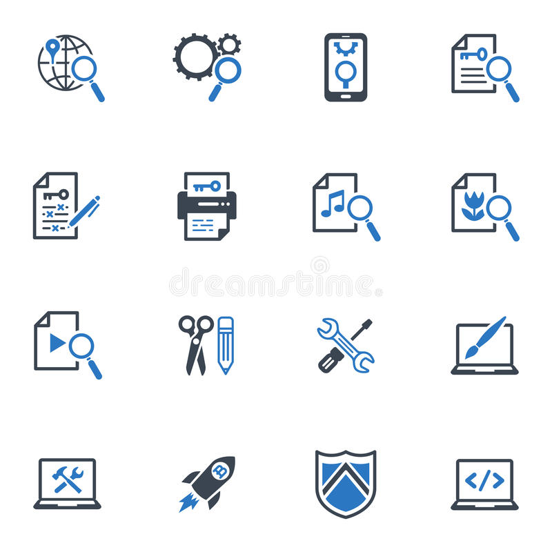Download SEO & Internet Marketing Icons Set 1- Blue Series Stock Vector - Image: 32058172