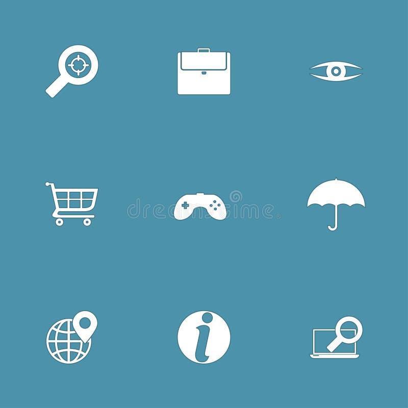 SEO Internet Sign Vector Icon-Reeks 10 stock illustratie
