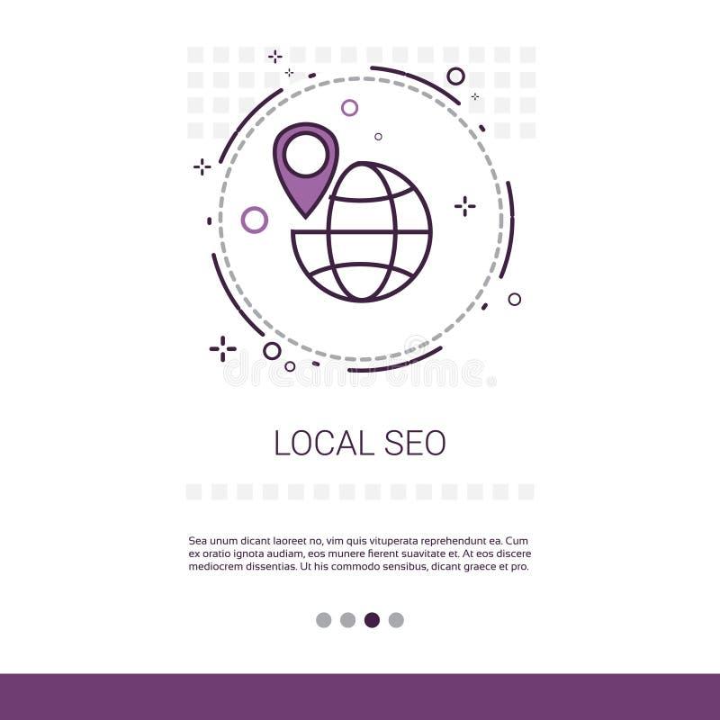 Seo Keywording Search Web Banner local avec l'espace de copie illustration de vecteur