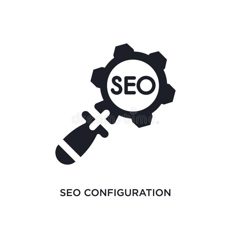 seo Konfiguration lokalisierte Ikone einfache Elementillustration von Programmierungskonzeptikonen editable Logozeichen seo Konfi lizenzfreie abbildung
