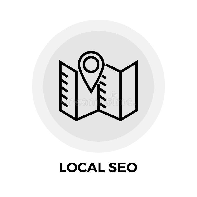 SEO Line Icon local ilustração do vetor