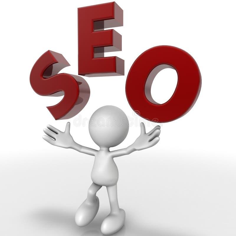 Download Seo man stock illustration. Image of position, background - 41935140