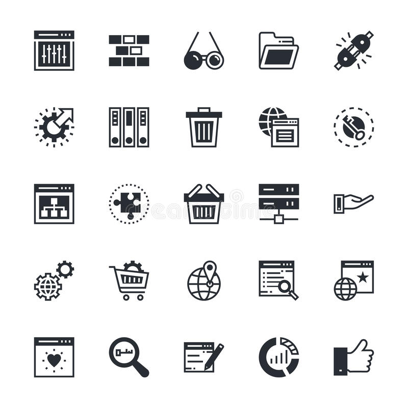 SEO and Marketing Colored Vector Icons 4. Here is useful and trendy SEO and marketing, Hope you can find a great use for them in seo, web development, web royalty free illustration