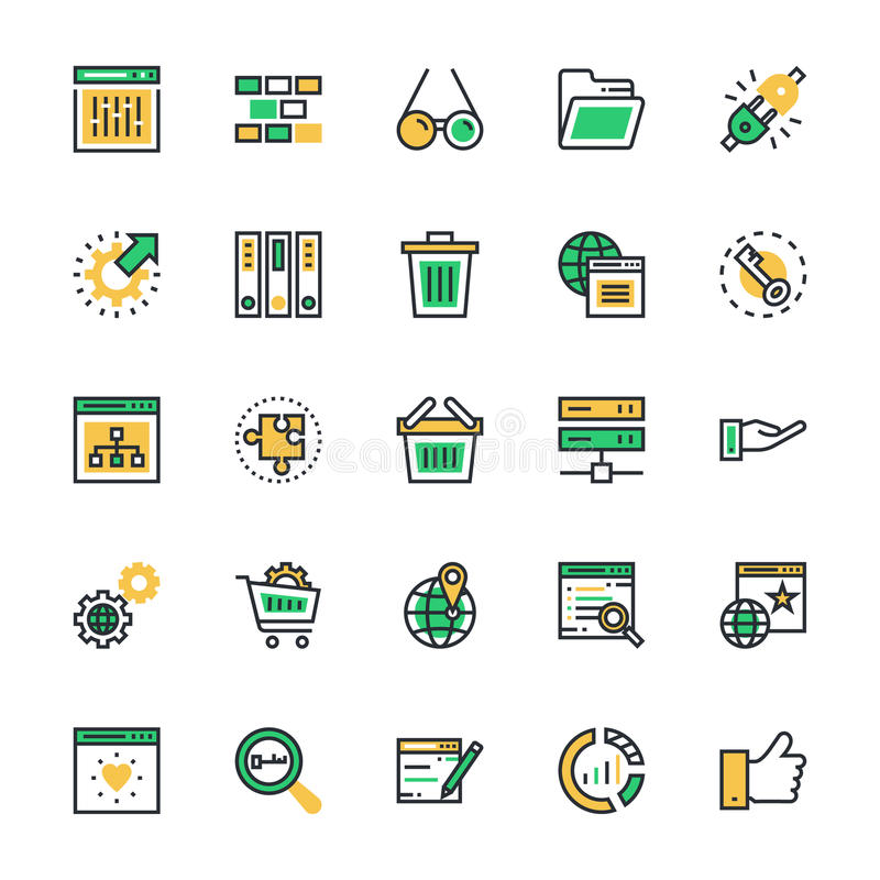 SEO and Marketing Colored Vector Icons 4. Here is useful and trendy SEO and marketing, Hope you can find a great use for them in seo, web development, web vector illustration