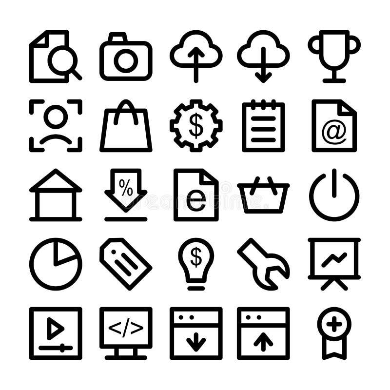 seo and marketing icons 4 stock illustration  image of