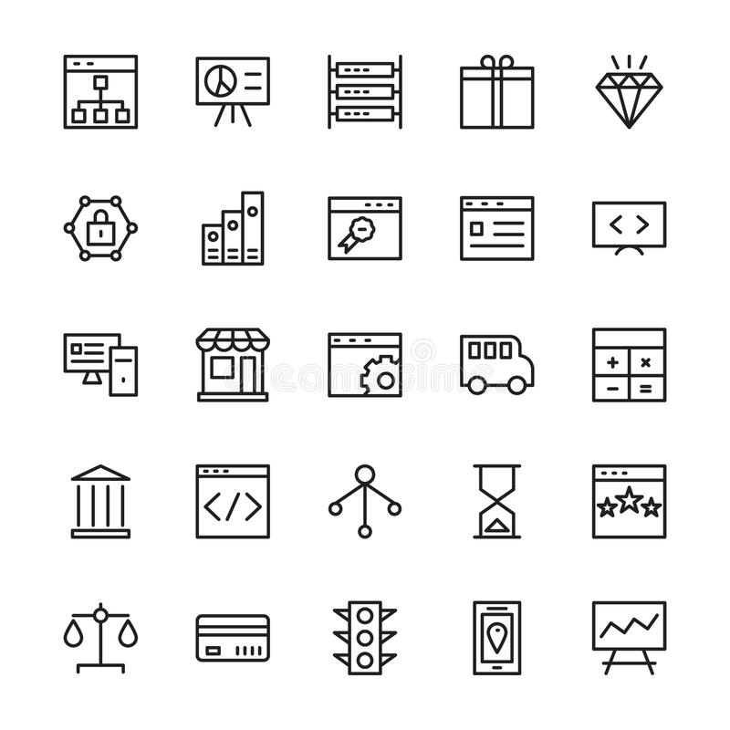 SEO and Marketing Outline Vector Icons 2. For the marketing and promotion of your business and website this Seo and Marketing Vector Icons Pack would be awesome stock illustration