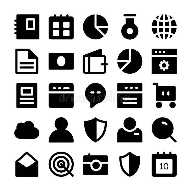 SEO and Marketing Solid Icons 1 royalty free illustration