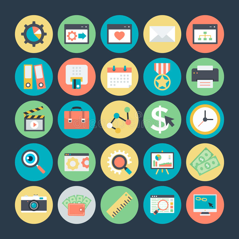 SEO and Marketing Vector Icons 4. Here is useful and trendy SEO and Marketing, Hope you can find a great use for them in search engine, online marketing, online royalty free illustration