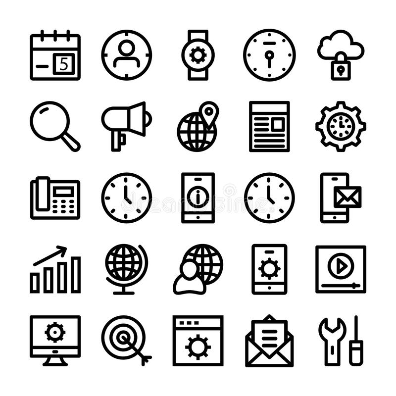 SEO and Marketing Vector Line Icons 2. Set of seo and marketing icons vector illustration